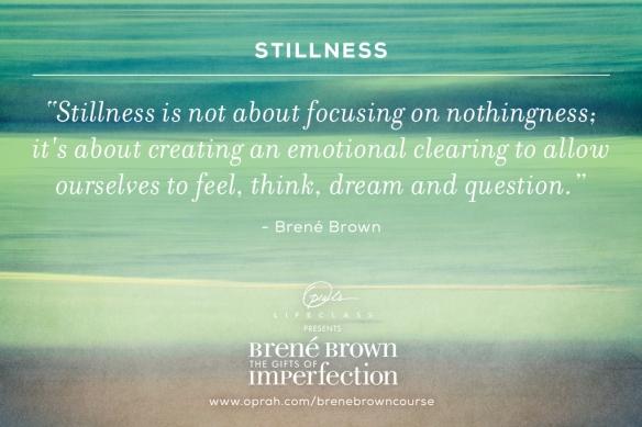 Stillness speaks. Stillness rules.