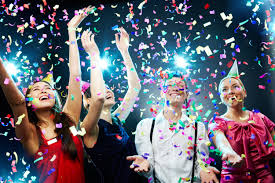 Confetti and party!