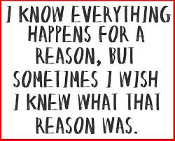 Struggling for a reason